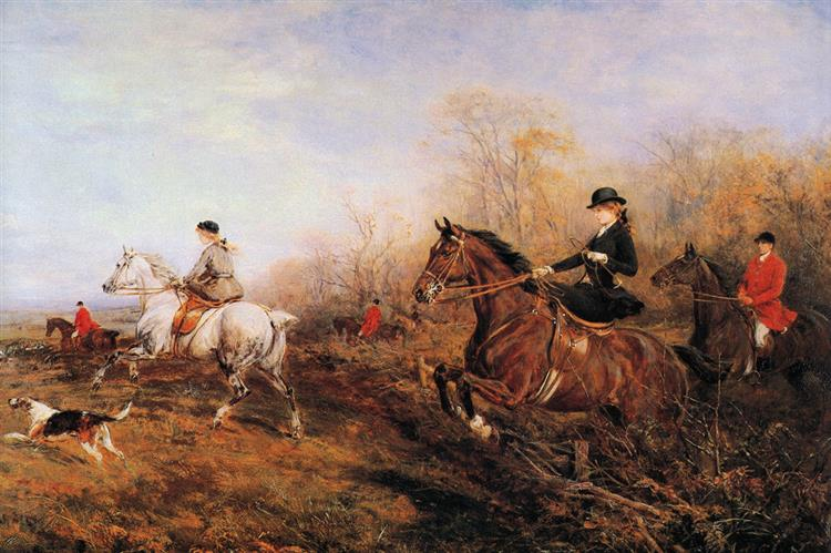 Out for a Scamper - Heywood Hardy