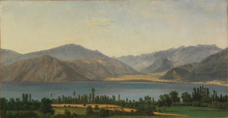 Lac Fucino Et Les Montagnes Des Abruzzes - Jean-Joseph-Xavier Bidauld