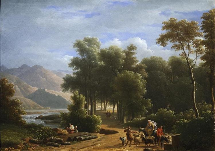 Paysage Montagneux Au Printemps - Jean-Joseph-Xavier Bidauld