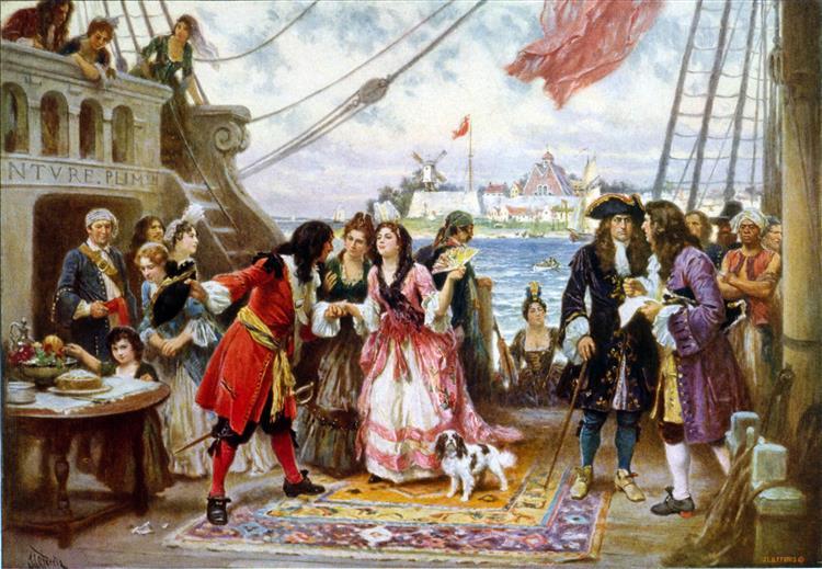 Captain Kidd in New York Harbor - Jean Leon Gerome Ferris