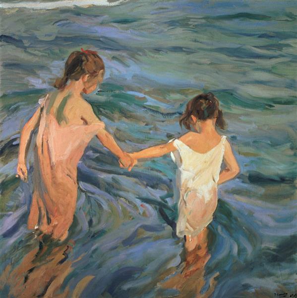 Children in the Sea, 1909 - Joaquín Sorolla