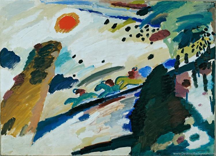 Romantic landscape, 1911 - Wassily Kandinsky