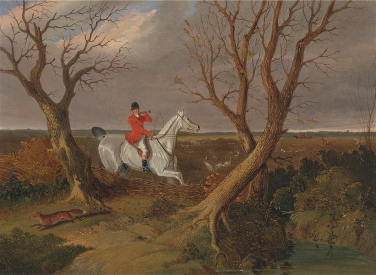 The Suffolk Hunt- Gone Away, 1833 - John Frederick Herring Sr.
