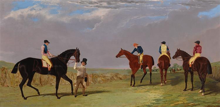 Lottery, Longwaist, Cedric and Figaro All with Jockey up, 1800 - John Frederick Herring Sr.