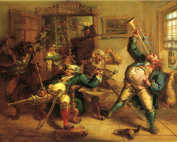 Antony Van Corlear Brought into the Presence of Peter Stuyvesant, 1839 - John Quidor