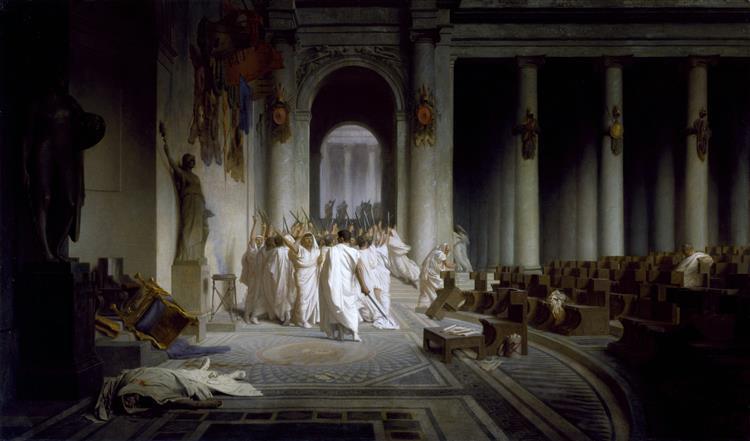 The Death of Caesar, 1867 - Jean-Léon Gérôme