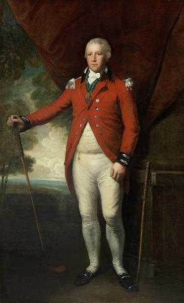 Portrait of Henry Callender Standing Full-length in a Landscape in the Attire of Captain General of the Blackheath Golf Club - Lemuel Francis Abbott