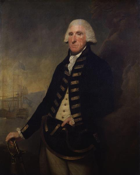 Portrait of Samuel Hood, 1st Viscount Hood - Lemuel Francis Abbott