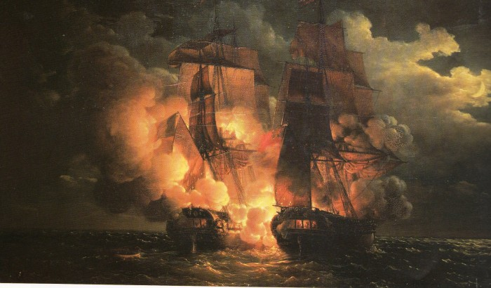 Naval Battle for the Islands of Loz, 7 February 1813 - Louis-Philippe Crépin