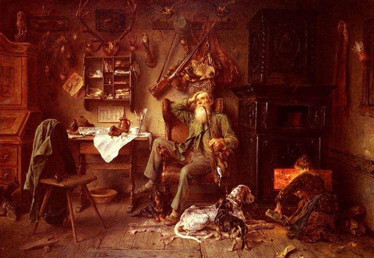 A Forester at Home - Ludwig Knaus