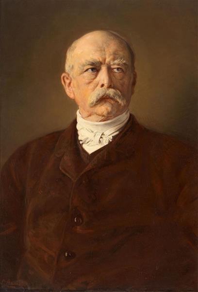 Portrait of the Chancellor Fürst Otto Von Bismarck - Ludwig Knaus