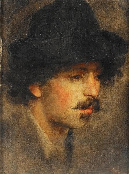 Portrait Study of a Young Gentleman - Ludwig Knaus