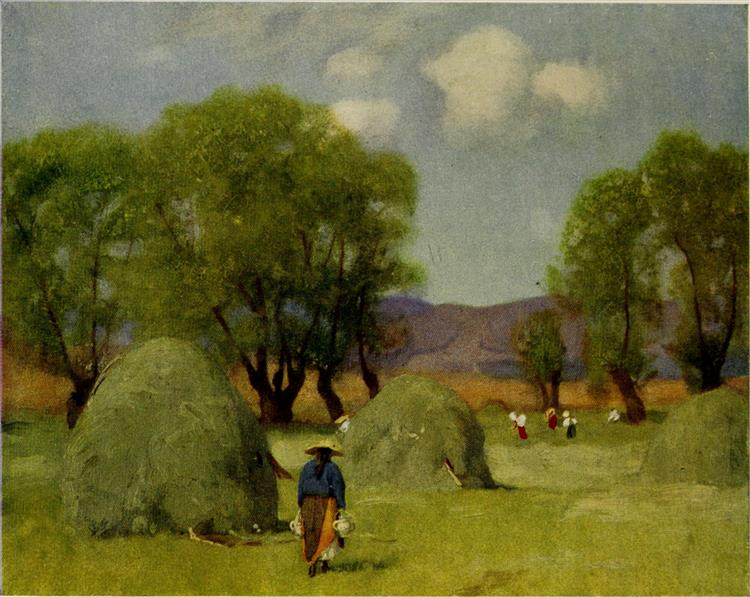 HAY-TIME IN TRANSYLVANIA, 1909 - Marianne Stokes