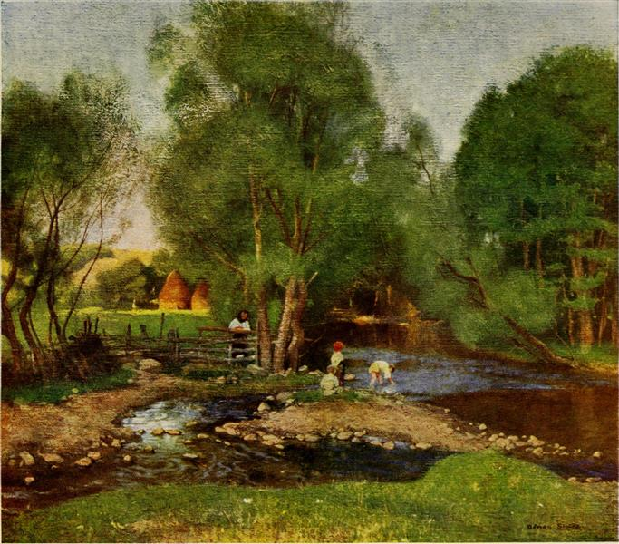 STREAMS IN EAST HUNGARY, 1909 - Marianne Stokes