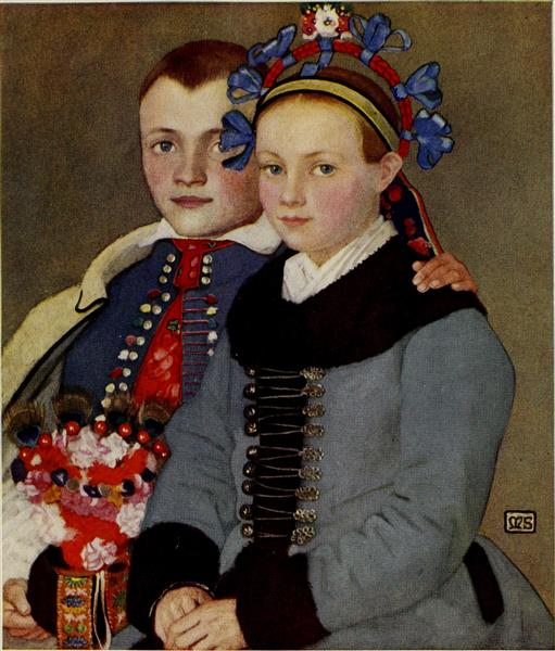 An Engaged Couple, 1909 - Marianne Stokes