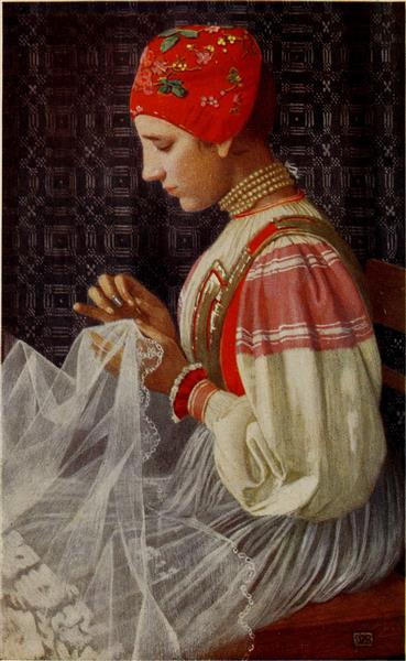 THE BRIDAL VEIL, 1909 - Marianne Stokes