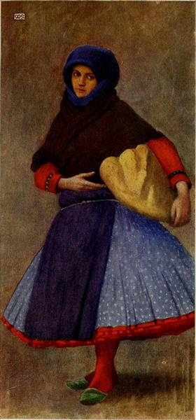 WOMAN OF KALOCSA IN WORK-DAY DRESS, 1909 - Marianne Stokes