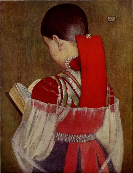 YOUNG GIRL OF ZSDJAR IN SUNDAYCLOTHES, 1909 - Marianne Stokes