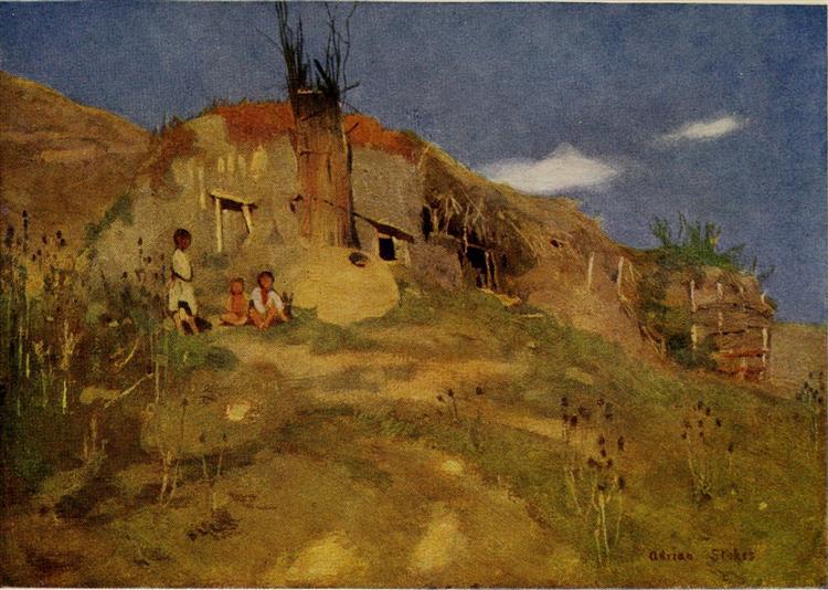 A GIPSYS CASTLE, TRANSYLVANIA, 1909 - Marianne Stokes