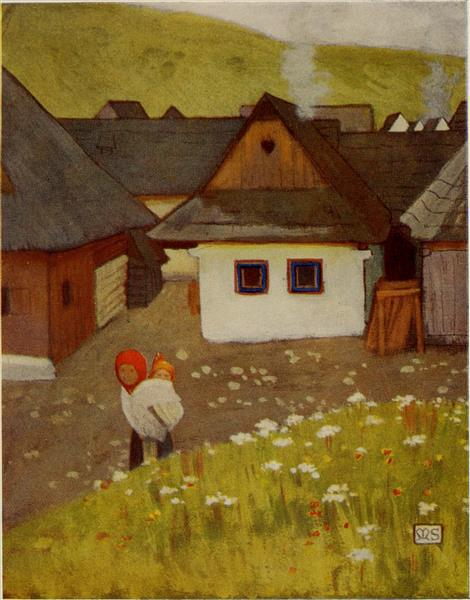 AT VAZSECZ, 1909 - Marianne Stokes