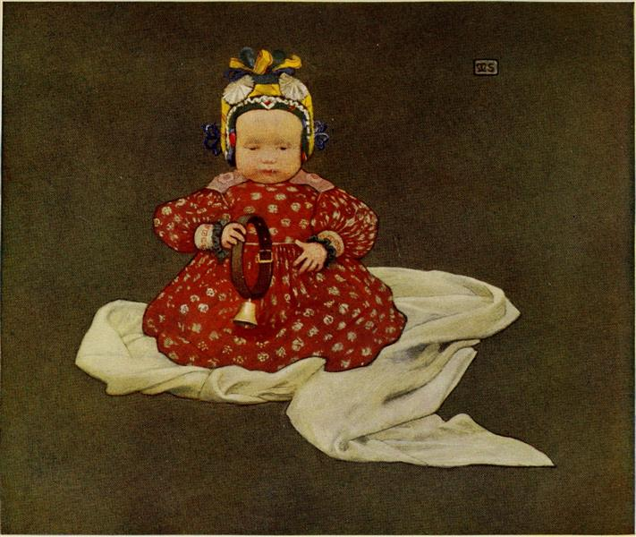 A HUNGARIAN BABY, 1909 - Marianne Stokes