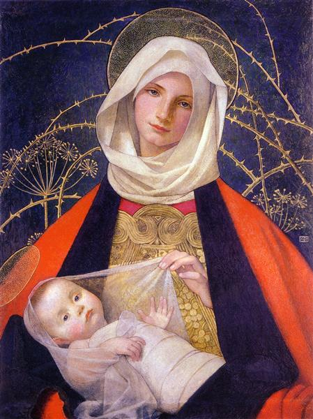 Madonna and Child, 1907 - 1908 - Marianne Stokes