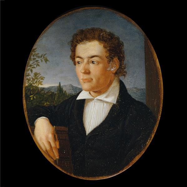 Brustbild Eines Jungen Mannes Vor Einer Abendlandschaft - Philipp Otto Runge