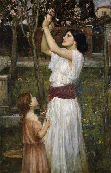 Gathering Almond Blossoms, 1916 - John William Waterhouse