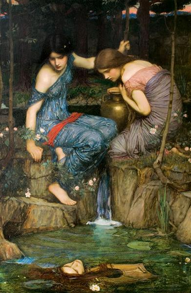 Nymphs Finding the Head of Orpheus, 1900 - Джон Вільям Вотерхаус