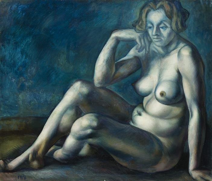 Nude, 1917 - Kmetty János