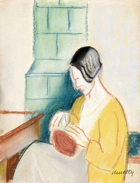 Sitting Woman, c.1930 - Kmetty János