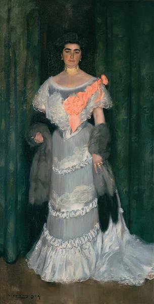Montserrat Casas De Nieto, in Evening Dress - Ramon Casas