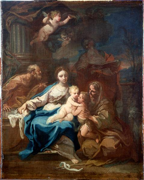 Holy Family with St Anne, the Baptist and Zacharias - Sebastiano Conca