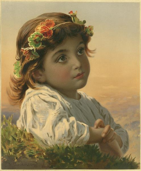 Dreaming Daisy - Sophie Gengembre Anderson