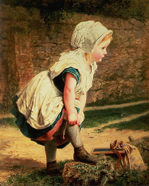 Wait for Me! Or Returning Home from School - Sophie Gengembre Anderson