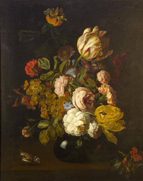 Still-life with Flowers, 1700 - Tobias Stranover