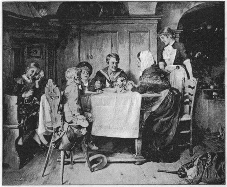 Heimkehr Nach Erster Fahrt, 1890 - Toby Edward Rosenthal
