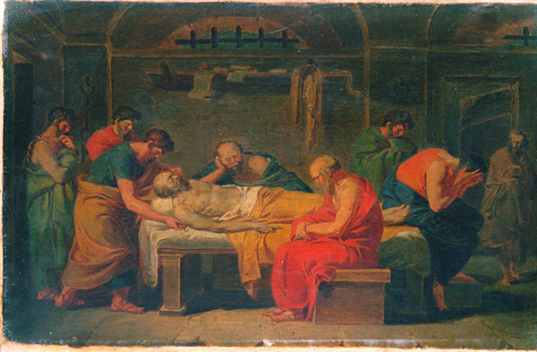 Lamentation over the Corpse of Socrates - Vincenzo Camuccini