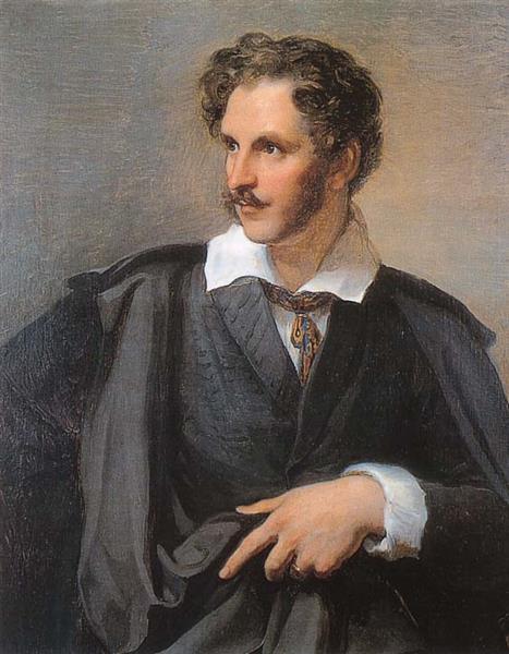 Portrait of August Grahl, German portrait painter and miniaturist - Vincenzo Camuccini