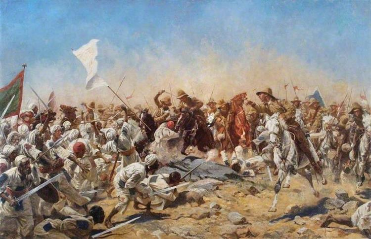 Charge of the 21th Lancers at Ondurman - William Barnes Wollen