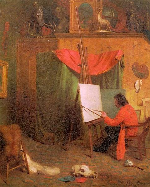 Self Portrait in the Studio, c.1860 - William Holbrook Beard
