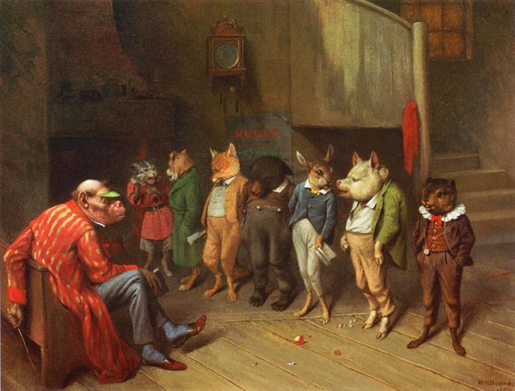 School Rules, 1887 - William Holbrook Beard