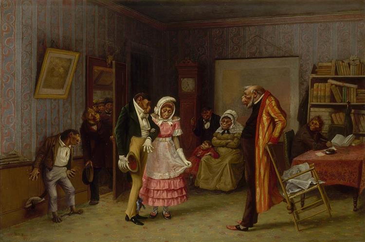 The Runaway Match, 1877 - William Holbrook Beard