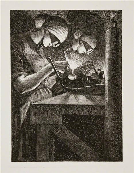 Acetylene Welder, 1917 - C. R. W. Nevinson