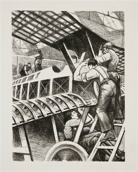 Assembling Parts, 1917 - C. R. W. Nevinson