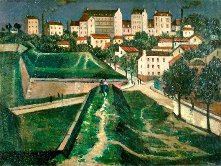 Paris Fortifications, 1913 - Christopher Nevinson