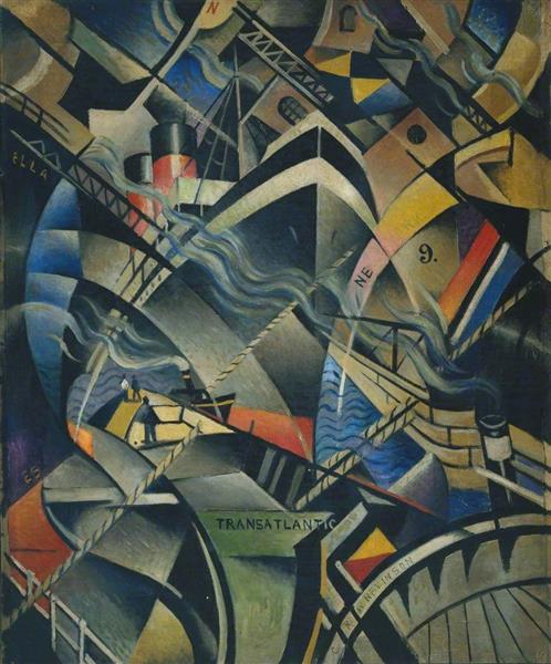 The Arrival, c.1913 - Christopher Nevinson