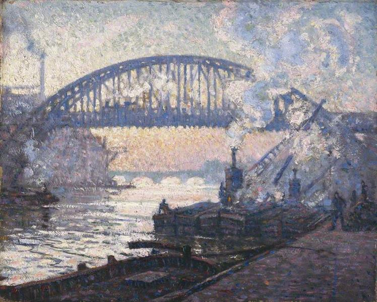 The Railway Bridge, Charenton, 1911 - 1912 - C. R. W. Nevinson