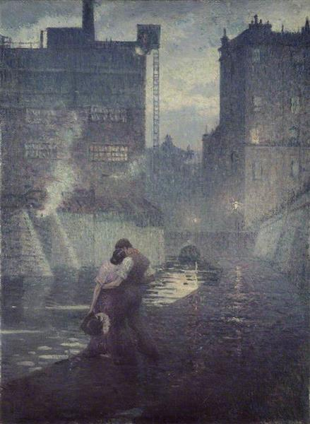 The Towpath, 1912 - C. R. W. Nevinson