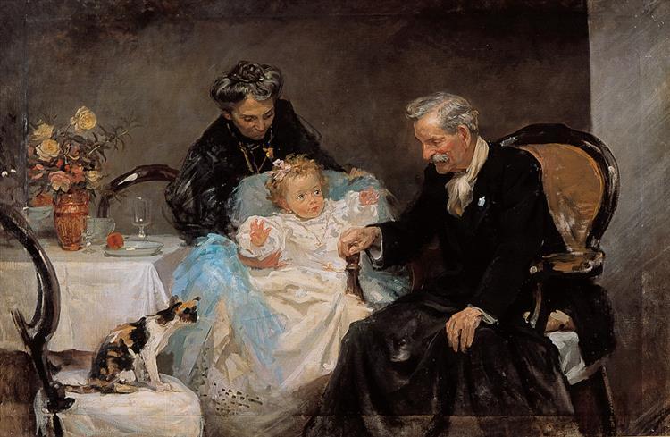 Padres Del Pintor, 1910 - José Santiago Garnelo y Alda